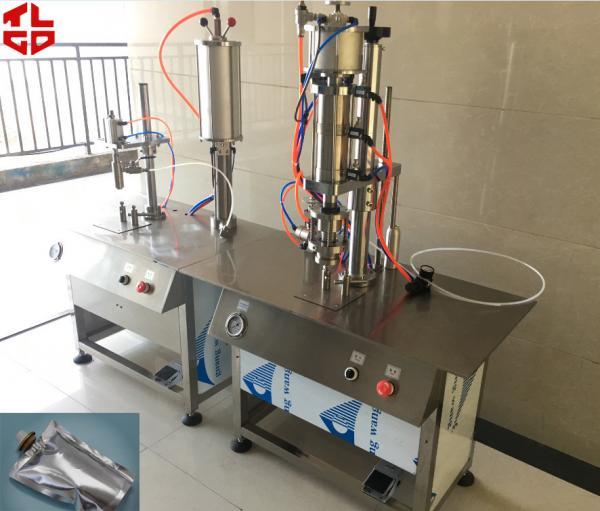 Quality Saco semi automático de BOV no material de aço inoxidável da máquina de enchimento 316 do aerossol da válvula for sale