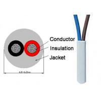 China 2 Cores Electric Wire Cable PVC insulation and jacket 300 / 500V wholesale