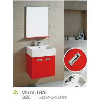 China Walnut color designer bathroom vanities , wall mounted vanities for small bathrooms on sale