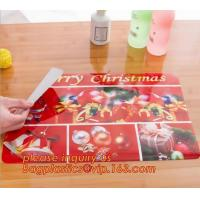China Heat insulation PVC Printed Placemat Dining Table Plate Mat,custom hot selling OEM pvc place mat dining table mat for wh on sale