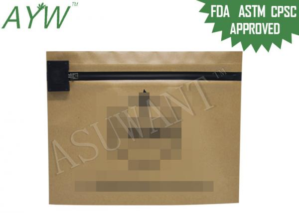 Quality Eco - amistoso recicle la bolsa resistente del niño, bolso de empaquetado de la prueba del niño del papel de Kraft para el tabaco for sale