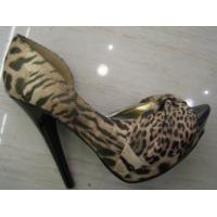 China Fashion Ladies Leopard High Heel Leather Shoes 35-40 Sizes wholesale