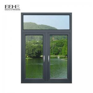 Two Clear Anodised Aluminium Windows , Swing Thermal Break Aluminum Windows