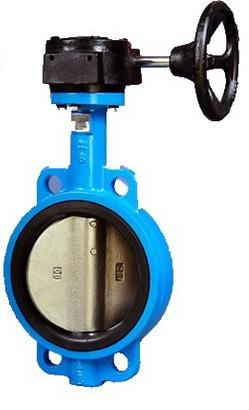 "Quality Wafer Style Carbon Steel Butterfly Valve with Worm Gear NPS 2""-48"" Class150-300 for sale"