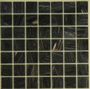 China Black Galaxy Glass Mosaic Tiles, 10x10 Smooth Bathroom Mosaic Floor Tiles wholesale