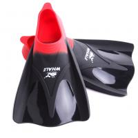 China Adult Red Travel Swim Fins , Men'S Diving Fins With Super Soft Silicone Material wholesale