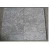 China Polished White Carrara Marble Tile Slabs , Outdoor Floor Marble Garden Tiles wholesale