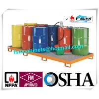 China Galvanized Steel Pallet Spill Containment Drum Platform For Multi Drums Storing on sale