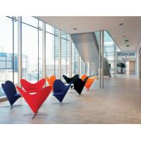 China Hotel Modern Leisure Chair Stainless Steel Cruciform Swivel Base / Heart Cone Chair wholesale