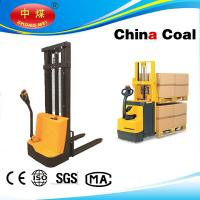 China Semi-electric pallet truck stacker 1500kg capacity with straddle legs wholesale
