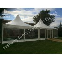 China Out side Clear PVC Fabric Wall high peak tent rentals , Pagoda Party wedding reception tents wholesale
