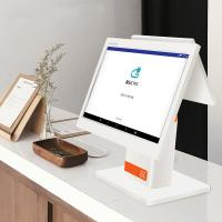 China White Color  Dual Touch Screen Point  Computer Pos System For  Clothing Store wholesale