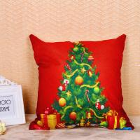 China Festival Decoration Pillow Cushion Covers Square Shape With Printed Christmas Tree wholesale