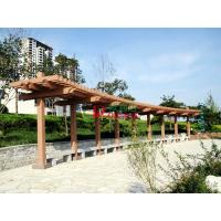 China Customized Outdoor Park Pergola Kits Environmental Friendly arch style with single line post wholesale
