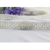 Irregular Graph 100% Cotton Lace Fabric Trim For Garment By The Yard Water Soluble