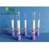 EDTA K2 / K3 Color Coded Blood Collection Tubes , Lavender Blood Tube