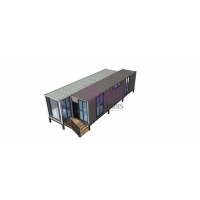 China Prebuilt Container Homes Fully Furnished Mobil 40 Feet Shipping Container Home on sale