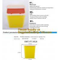 China Plastic Hospital Medical Disposal Waste Sharp Container,plastic round sharps disposal container with lid BAGEASE PACKA wholesale
