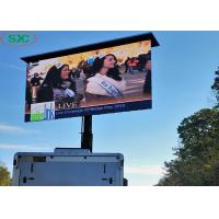 China Outdoor Car LED Sign Display , Led Car Message Sign Advertising Billboard Trailer 6mm Pitch on sale