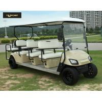 Bronze Street Legal Electric 8 Passenger Golf Cart With Black Seats , Sharp Looking