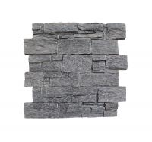 China Black Quartzite Slate Cement Wall Cladding Ledger Panel Wall Panel Slate Stacked Stone Veneer Cultured Stone wholesale