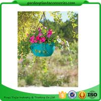 China Colorful ABS Plastic Hanging Pots Includes Hanging Chain With Hook wholesale