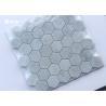 China Hexagon Carrara Marble Mosaic Wall Tile 42pcs Sheet No Chemical Tight Structure wholesale