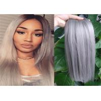 Two Tone Color Peruvian Human Hair Extensions Ombre , Pastel Ombre Hair Extensions  For Braiding