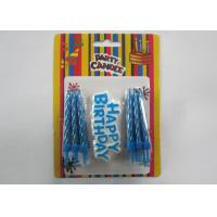 Buy cheap Eco - Friendly Blue Shine Gold Birthday Candles / Birthday Wax Craft Candles from wholesalers