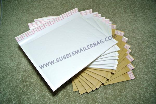 Quality Big Kraft Bubble Mailers Cyan 95x155mm #A LLDPE Corrosion Resistant for sale