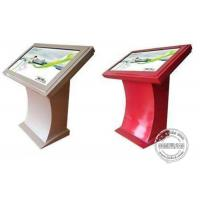 China Hotel Checking Information Interactive Touch Screen Kiosk Computer Floor Standing With Mini Pc wholesale