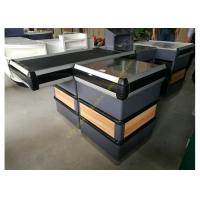 China Supermarket Checkout Counter With Conveyor Belt wholesale