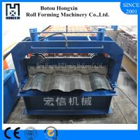 Buy cheap Aluminum Plate Cold Roll Forming Machine Hydraulic Pump 828mm Cover Width from wholesalers