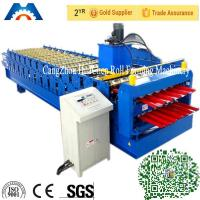 China Color Steel Plate Double Layer Roof Panel Roll Forming Machine 1200 / 1250mm Width wholesale
