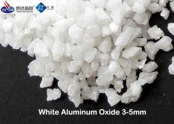 Quality Thermal Stable Fused White Alumina, 3 - 5 Mm Abrasive Aluminium Oxide for sale