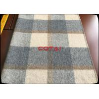 China Wholesale 60 Wool 900G/M Double Sided 8CM Tartan / Plaid Fabric With Gray Twill Inside Coating Wool Fabric wholesale