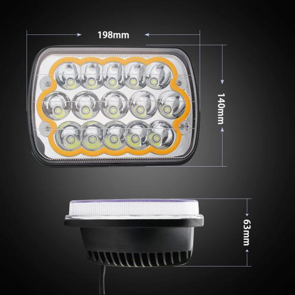 Quality Good quality Off Road 45W 7 inch Epistar Chips LED headlight  with Colorful Ring and Strobe Model for sale