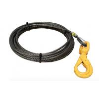 China 5/8 Fiber Core Wire Rope And Sling Winch Cables With Swivel Self Locking Hooks wholesale
