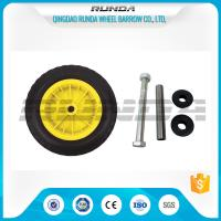 China Yellow Color Inflatable Caster Wheels Plastic Bush Bearing Stright Vales 6PR wholesale