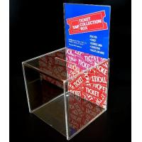 China OEM and ODM Design Acrylic Donation Box with Lock and Key on sale