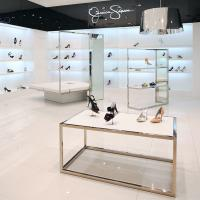 China customized fashion commercial shoe display stand counter rack on sale