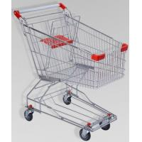 China 150L Large Elderly Supermarket Metallic Shopping Cart With Two Tier Wheels wholesale