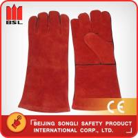 China SLG-HD8020-R4 cow split leather welding gloves wholesale