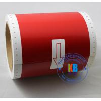 China Thermal transfer pvc label red yellow color 100mm*10m compatible for Max Bepop  CPM-100 HG3C wholesale