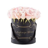 China Colorful Customized Luxury Packaging Boxes Round Flower Hat Box With Handle on sale