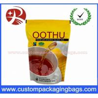 China Aluminum Foil Heavy Duty Zip Lock Bags Tea Packaging 60-130 Microns Thickness wholesale