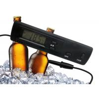 China Black Color Refrigerator Freezer Digital Thermometer With 1 Meter Molded Case Probe wholesale