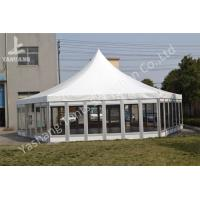China Polygon Transparent Glass Wall wedding canopy tent high peak Aluminum Frame wholesale