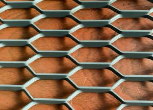 China 1.22m Width 2.44m Length Metal Wall Mesh Grid , Aluminum Expanded Metal Mesh Decorative wholesale