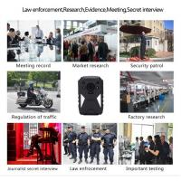 China HD 1440P IP67 Police Wearable Video Camera With 4G GPS WIFI Function wholesale
